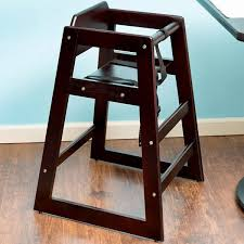 table u0026 seating stacking restaurant wood high chair with dark