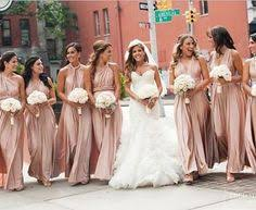 gold bridesmaid dresses a pretty pink vintage wedding bridesmaid gold and multiway