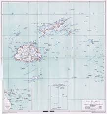 Fiji Islands Map Fiji Maps Prints Photographs Ephemera Pennymead Com