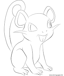 019 rattata pokemon coloring pages printable