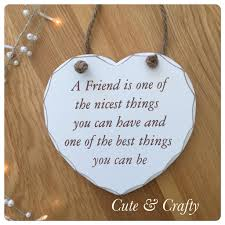 friendship heart friend heart plaque crafty