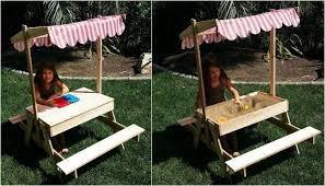 Kids Outdoor Picnic Table Build Your Kids A Picnic Table With Sandbox