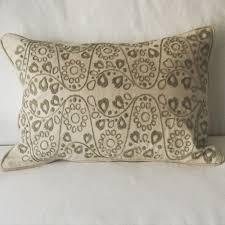 Rose Home Decor Off White With Grey Design Silk Pillow Fork Rose U2013 Fork Rose