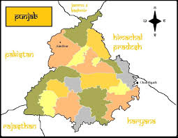 Punjab Map Rustic India