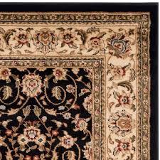 Safavieh Lyndhurst Collection Safavieh Lyndhurst Traditional Oriental Black Ivory Rug 5 U00273