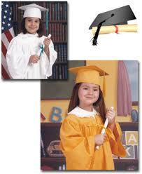 kindergarten cap and gown procolor photography