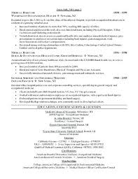 cv format for veterinary doctor doctor resume template occupational therapist exle medical cv