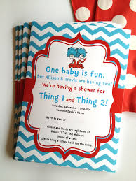 Thing One And Thing Two Party Decorations Dr Seuss Thing 1 And 2 Twins Birthday Party Or Baby Shower