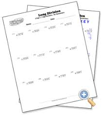1 digit with 3 digit numbers long division worksheetworks com