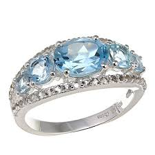 topaz gemstone rings images Sevilla silver 5 stone gem and white topaz ring 10077537 hsn jpg