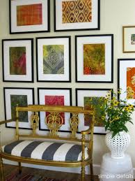 simple details diy framed batik fabric gallery wall love those