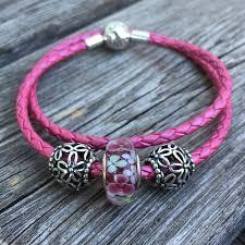 pink leather bracelet images Pandora honeysuckle pink leather bracelet marthnickbeads jpg