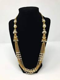 gold pearl necklace set images Indian jewelry set moti pearl jewelry rani haar jewelry set jpg