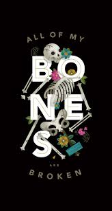 bones graphic floral halloween iphone wallpaper phone background