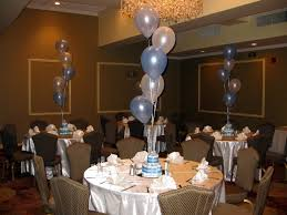 baby shower table centerpieces for a baby boy diaper cake