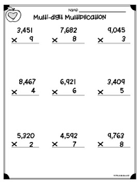 multi digit multiplication worksheets 4 nbt b 5 u0026 5 nbt b 5 by