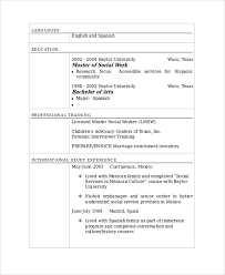 Lmsw Resume Sample Social Worker Resume Template 9 Free Documents Download