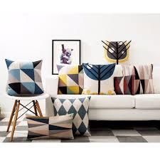taie d oreiller pour canapé scandinave style siège coussin taie d oreiller moderne minimaliste