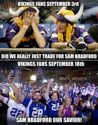Vikings Memes - 23 best memes of sam bradford the minnesota vikings beating aaron