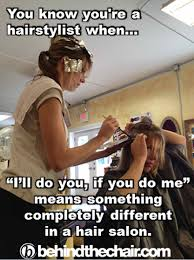 Hairdresser Meme - lol doing each other s hair only a hairstylist would say lol