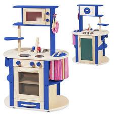 howa küche howa spielküche kinderküche aus holz rundum bespielbar natur blau