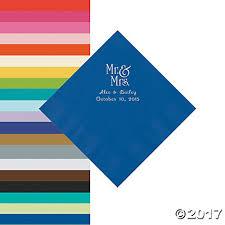 printed wedding napkins personalized wedding napkins on sale orientaltrading