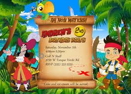 cool jake neverland pirates birthday invitations download