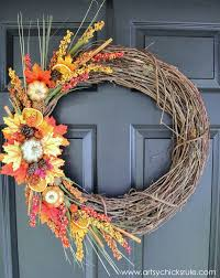 fall wreaths diy fall wreath fall themed tour artsy rule