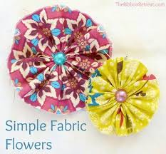 Fabric Flowers Fabric Flower Wreath The Ribbon Retreat Blog