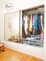 Closets Without Doors by A Sunny California One Bedroom Gets An Elfa Closet Overhaul