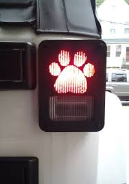 jeep wrangler brake light cover jeep wrangler jk decorative dog paw metal tail light covers guards