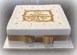 50th wedding anniversary cake with raspberry bavarian cream