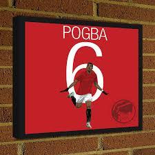 pogba square canvas wrap soccer art print paul pogba man utd