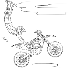 coloring pages motocross printable for kids u0026 adults free