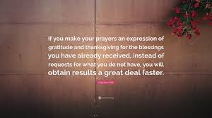 napoleon hill quote if you make your prayers an expression of