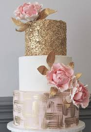 wedding cake layer three tier pink and gold wedding cake tier wedding cakes