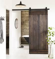 Rustic Industrial Bathroom by Rustic Style Barn Door Modern Industrial Modern Industrial