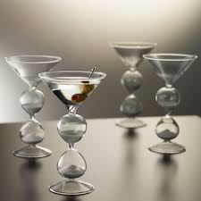 martini photography the martini hourglasses keep track of drinking time cnet