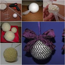 diy pearl ornaments