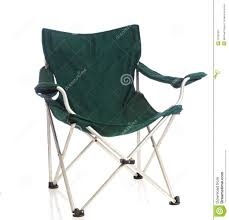Folding Patio Chair by Green Folding Lawn Chair On White Royalty Free Stock Photography