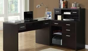 desk espresso computer desk with hutch posistrength computer