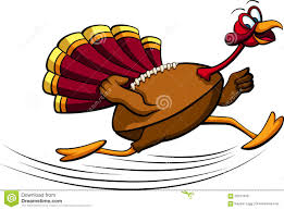 thanksgiving turkey prices thanksgiving turkey running stock vector image 59121976