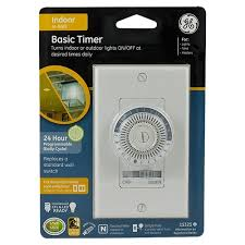 Outdoor Timer For Lights by Ge 24 Hour Basic In Wall Mechanical Timer Jasco