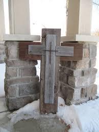 wood crosses for crafts barn wood cross repurposed wood cross by blessherheartdesigns