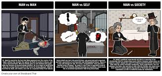main themes dr jekyll and mr hyde dr jekyll and mr hyde literary conflict storyboard