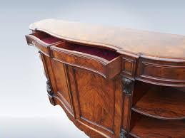 large victorian walnut credenza sideboard