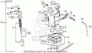 honda xr100 1981 b usa carburetor schematic partsfiche