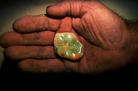 african green opal half of the inhabitants of this australian opal capital live