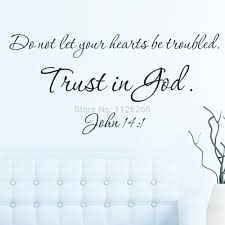 Home Decor Quotes by Aliexpress Com Buy Wall Sticker Quotes Trust In God Removable