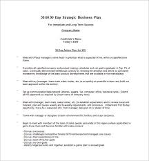 30 60 90 day action plan 6 free word excel pdf format